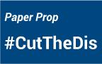 cut the dis paper prop