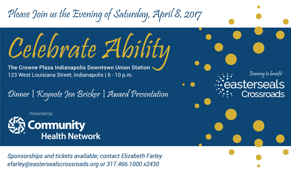 Celebrate Ability image with text about April 8 event