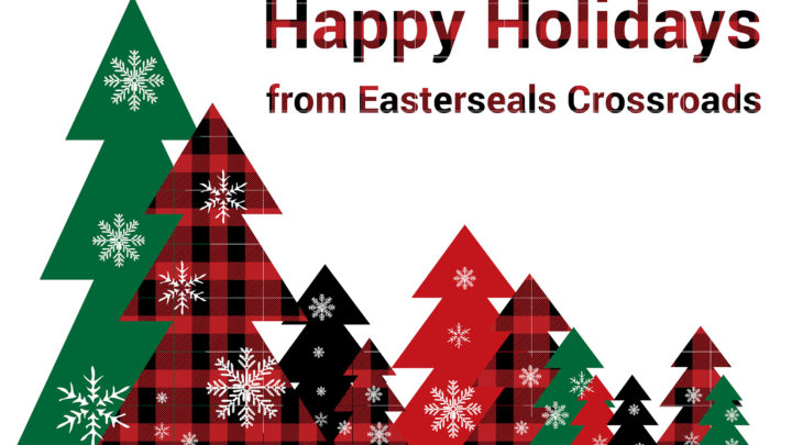 image of trees with words Happy Holidays from Easterseals Crossroads