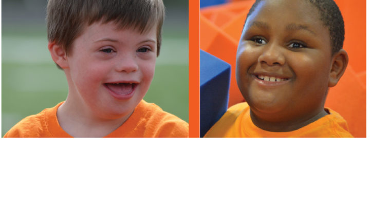 images of two boys both smiling at summer camp