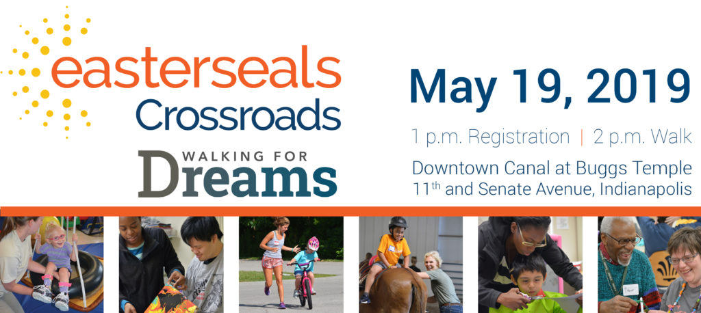 walking for dreams header with logo and images