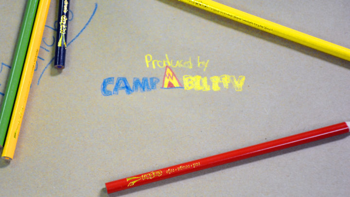 words CampAbility drawn in pencil by camper