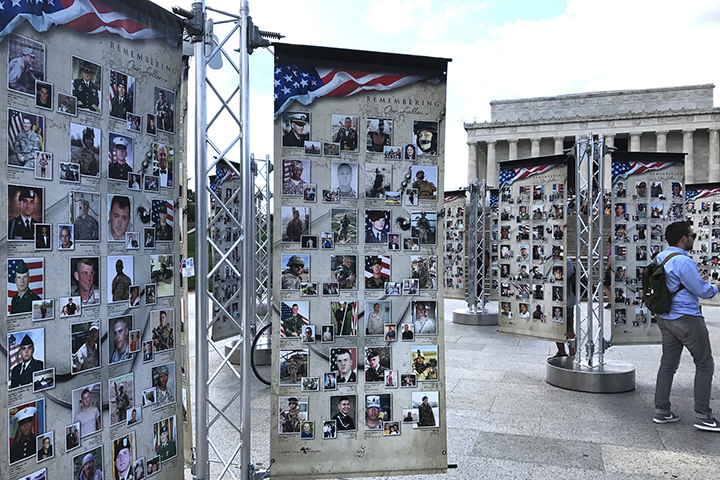 photo of Remembering Our Fallen national exhibit