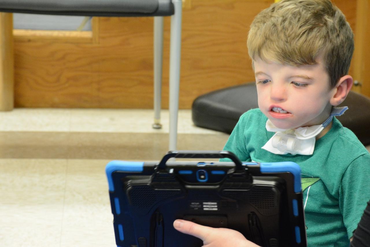 Boy on a tablet